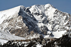 Rocky Mountain. A snow covered mountain peak in the Rocky Mountain National Park Stock Images