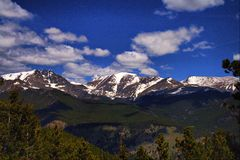 Rocky Mountain. National park in spring sunny and blue sky Stock Photo