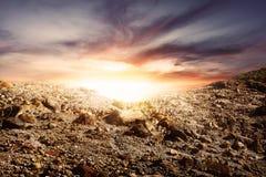 Rocky mountain with beautiful sun view Stock Photo