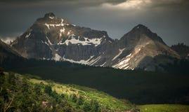 Rocky Mountain Beauty, sonnengesprenkelte Spitzen, Tellurid, Colorado Lizenzfreies Stockbild