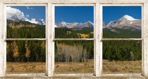 Rocky Mountain Continental Devide Rustic Window View Royalty Free Stock Images