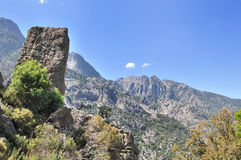 Rocky mountain in Corsica Royalty Free Stock Photography