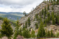 Rocky Mountain foot hills Royalty Free Stock Images