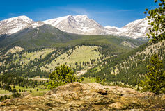 Rocky Mountain Front Range View Photo libre de droits