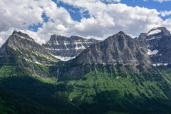 Rocky mountain in Glacier National Park, Montana USA. Oberlin Mountain and Cannon Mountain. Rocky mountain in Glacier National Park, Montana. Oberlin Mountain stock image