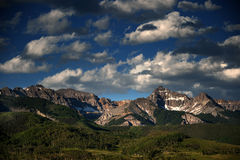Rocky Mountain Heaven, Dallas Peak, Telluride, Colorado. Rich, dazzling clouds sail over Dallas Peak in the San Juan mountains of south-western Colorado Stock Image