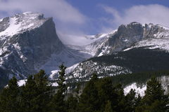 Rocky Mountain Heights. Peaks overlooking Bear Lake in Rocky Mountain National Park Stock Photography