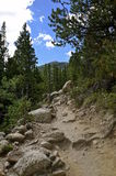Rocky Mountain hiking path Royalty Free Stock Images