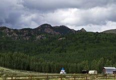 Rocky Mountain Homestead Royalty Free Stock Image