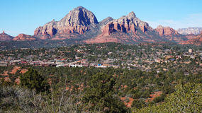 Rocky Mountain i Arizona, USA Royaltyfria Foton
