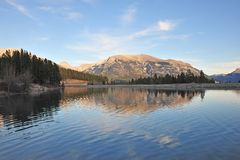 Rocky mountain and lake royalty free stock images