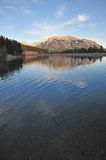 Rocky mountain and lake stock photography