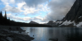 Rocky mountain lake side back country camping Royalty Free Stock Photo