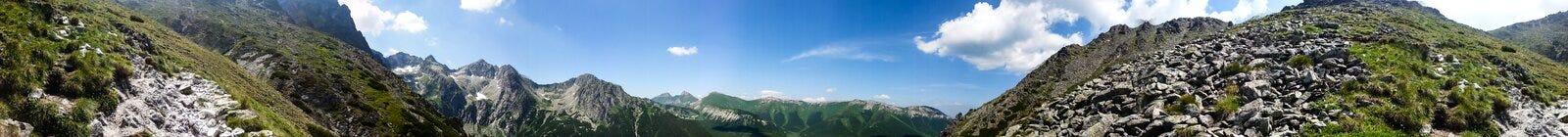 Rocky mountain landscape with blue sky in Vysoke Tatry.  royalty free stock photos