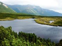 Rocky mountain landscape with blue sky in Vysoke Tatry.  royalty free stock photography