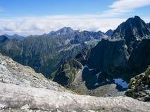 Rocky mountain landscape with blue sky in Vysoke Tatry.  royalty free stock photo
