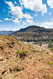Rocky mountain landscape with dry riverbed Stock Photography