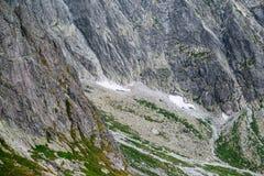 Rocky mountain landscape in High Tatry. Beautiful rocky mountain landscape in High Tatry stock image