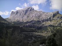 A rocky mountain in Mallorca, Spain Royalty Free Stock Image