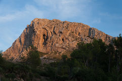 Rocky mountain in Mallorca. Rocky mountain in the countrysides of Mallorca Royalty Free Stock Images