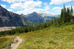 Rocky mountain and meadow Royalty Free Stock Photos