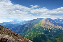 Rocky Mountain National Park beautiful summer view. Royalty Free Stock Images