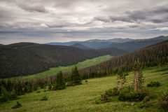 Rocky Mountain National Park - Colorado River Headwaters. A cloudy day from along Trail Ridge Road, above the Colorado River Stock Images