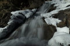 Horseshoe Falls - Rocky Mountain National Park royalty free stock image