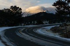 Trail Ridge Road in Winter. Rocky Mountain National Park, Estes Park, Colorado Stock Photos