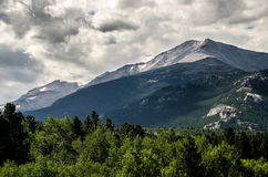 Rocky Mountain National Park Estes Park, Colorado. With beautiful clouds in the sky stock photos