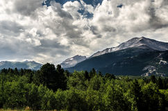Rocky Mountain National Park Estes Park,Colorado. With beautiful clouds in the sky royalty free stock photo