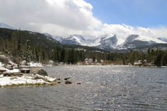 Rocky Mountain National Park Lake and Peaks Stock Photo