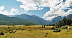 Rocky Mountain National Park. Mountains and meadow at Rocky Mountain National Park near Estes Park, Colorado Royalty Free Stock Images