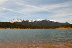 A majestic view of the Rocky Mountain National Park, Colorado, USA stock photography