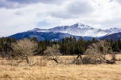 A majestic view of the Rocky Mountain National Park, Colorado, USA stock photos