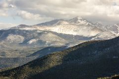 A majestic view of the Rocky Mountain National Park, Colorado, USA stock photo
