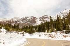 A majestic view of the Rocky Mountain National Park, Colorado, USA stock images