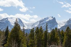 A majestic view of the Rocky Mountain National Park, Colorado, USA stock image