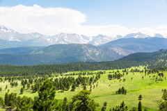 Rocky Mountain National Park panoramic view Royalty Free Stock Images