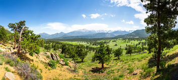Rocky Mountain National Park panoramic view Royalty Free Stock Photo