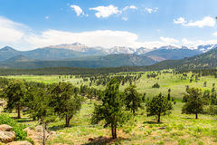 Rocky Mountain National Park panoramic view Royalty Free Stock Image