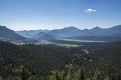 Rocky Mountain National Park. View taken from one of the many outlooks on road that goes through the Rocky Mountain National Park, Colorado, taken in July 2014 Royalty Free Stock Image