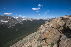 Rocky Mountain National Park. View taken from one of the many outlooks on road that goes through the Rocky Mountain National Park, Colorado, taken in July 2014 Stock Photo
