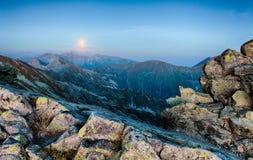 Rocky Mountain at night Stock Image