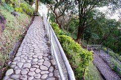 Rocky Mountain Pathways. This is the pathway going up to the shrine of Mount Samat Stock Photography