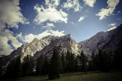 Rocky mountain peaks Stock Image