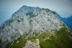 Rocky mountain peaks Stock Photography