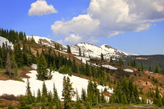 Rocky Mountain Peaks at Summer Royalty Free Stock Photos