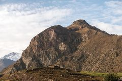 Rocky mountain in Peru. Scenic morning landscape with rocky mountain in Peru royalty free stock photography