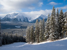 Rocky Mountain Piste Royalty Free Stock Photography